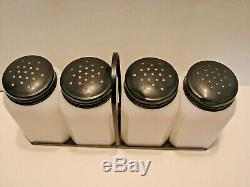 Vintage Tipp City Lady Watering Flowers Lg Shakers Salt Pepper Flower Sugar Set