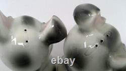 Vintage Van Tellingen Bendel Gray Hugger Kissing Pigs Range Size Salt Pepper