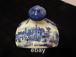 Vintage Victoria Ware Flow Blue Canister Set With Salt And Pepper