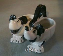 Vintage antique 1930's Disney Mickey mouse Porcelain salt and pepper pot Germany