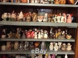 Vintage salt and pepper collection, wood, ceramic, China, glass, metal, all type