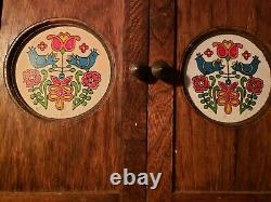 Vintage spice cabinet and salt & pepper shakers Corningware Country Festival
