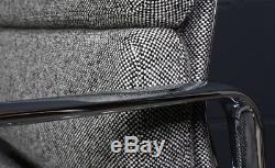 Vitra Charles Eames Alu-Chair Salt&Pepper Edition Hopsak EA208 Soft-Pad Stuhl