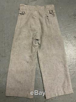 Vtg 1930s Stifel Salt And Pepper Boys Pants Workwear RARE 22x19 Sanforized 20s