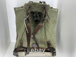 Vtg 1959 Swiss Army Salt Pepper Military Backpack Rucksack Plce