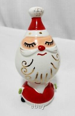 Vtg 1960's Napco Santa & Reindeer Salt & Pepper Shakers Christmas Holt Howard St