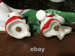 Vtg Lego Japan Santa Candy Cane Christmas Salt Pepper Napco Holt Howard Lefton