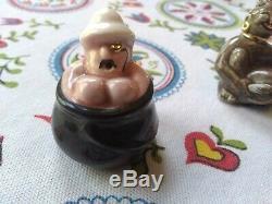 Vtg Rare Arcadia Miniature Cannibal Native/ Explorer Man Salt And Pepper Shakers