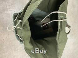 Vtg Swiss Army Military Backpack Rucksack 1968 Canvas Salt Pepper 60s Bag Pack