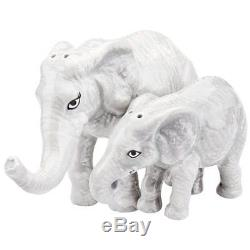 Westland Giftware Mwah Magnetic Mother and Baby Elephants Salt and Pepper Shaker