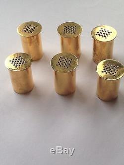 Wiwen Nilsson Gilded Sterling Silver Salt/Pepper Shaker. Measures 2,5cm