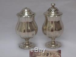 Wonderful pair of English Sterling Silver Georgian Salt & Pepper Shakers London