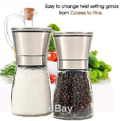 Wow BULK 200 CLASSY Elegent Salt and pepper grinder set With Matching Stand
