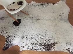 XXL Kuhfell Salt Pepper Schwarz und Weiß ca. 250 cm x 200 cm