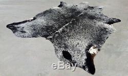 XXLARGE Cowhide Rug SALT AND PEPPER BRAZILIAN 8'x6'5 Ft Cow Hide skin Leather
