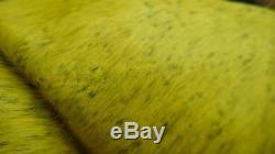 Yellow Cowhide Rug Size 6' X 6.5' Dyed Salt & Pepper Cowhide Skin Rug M-469